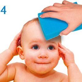 BabyBene® Gel Anwendung Schritt 4 - ganz einfach mit Wasser abspülen